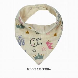 Bunny Ballerina Bandana Bib