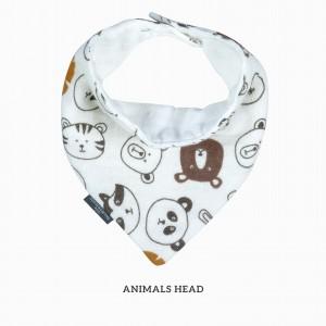 Animals Head Bandana Bib