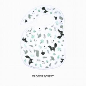Frozen Forest Snappy Bib