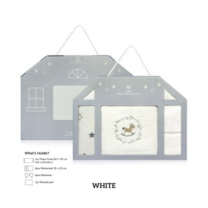 WHITE Baby Newborn Giftset