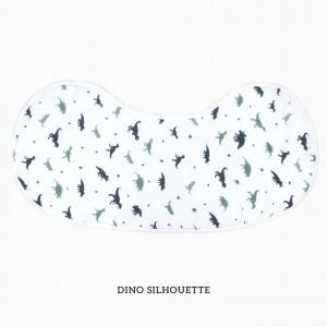 Dino Silhouette Burp & Bib