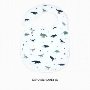 Dino Silhouette Snappy Bib