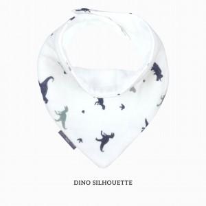 Dino Silhouette Bandana Bib