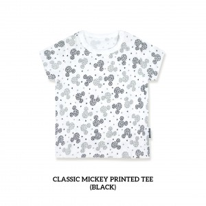 Classic Mickey Printed Tee (BLACK)