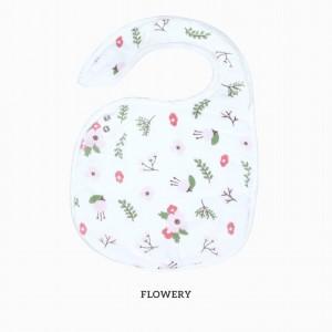 Flowery Snappy Bib