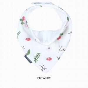 Flowery Bandana Bib