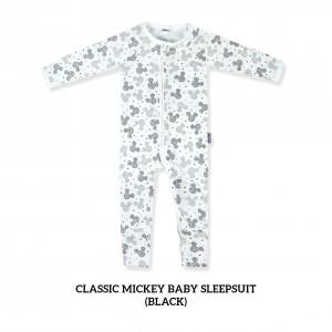 BLACK Baby Sleepsuit Classic Mickey
