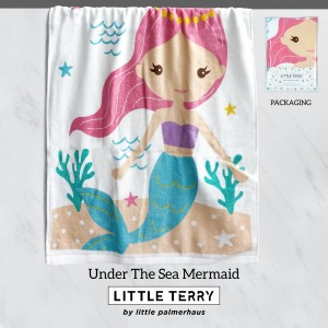 UNDER THE SEA MERMAID LITTLE TERRY TOWEL