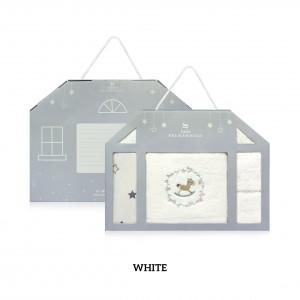 WHITE Baby Newborn Gift Set