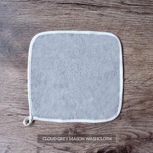 Mason Washcloth Set Of 4 Cloud Grey