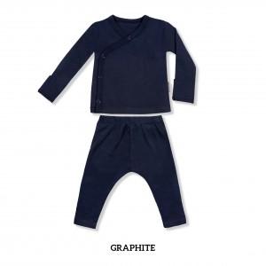 GRAPHITE Baby Kimono Long Sleeve Set