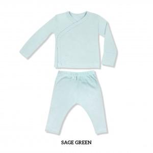 SAGE GREEN Baby Kimono Long Sleeve Set