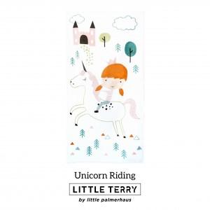 UNICORN RIDING LITTLE TERRY TOWEL