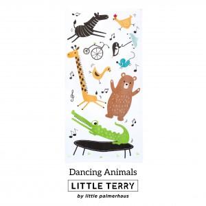 DANCING ANIMALS LITTLE TERRY TOWEL