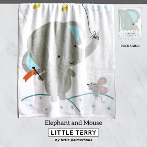 ELEPHANT AND MOUSE LITTLE TERRY TOWEL