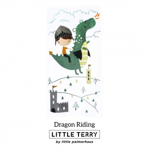 DRAGON RIDING LITTLE TERRY TOWEL