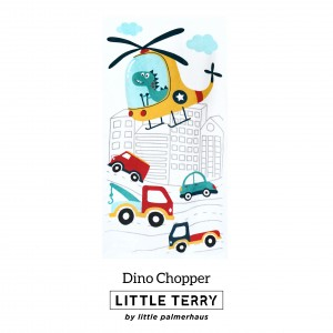 DINO CHOPPER LITTLE TERRY TOWEL