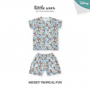 MICKEY TROPICAL FUN Little Wear Shoulder Button Short Sleeve