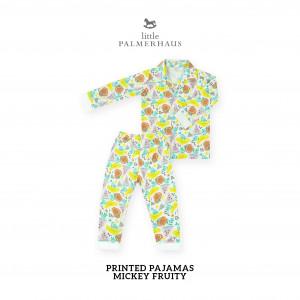 MICKEY FRUITY Printed Pajamas Long Sleeve Set