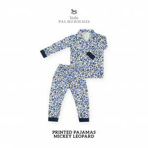 MICKEY LEOPARD Printed Pajamas Long Sleeve Set