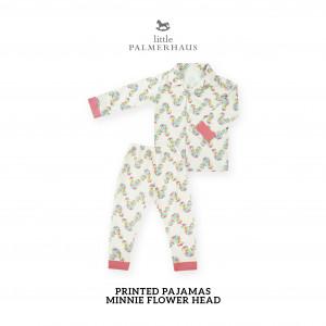 MINNIE FLOWER HEAD Printed Pajamas Long Sleeve Set