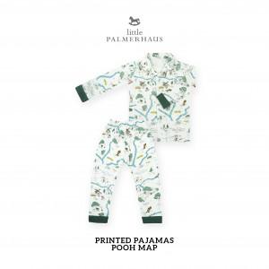 POOH MAP Printed Pajamas Long Sleeve Set