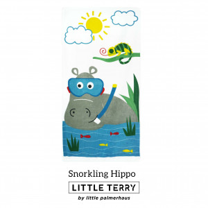 SNORKLING HIPPO LITTLE TERRY TOWEL