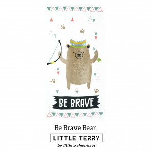 BE BRAVE BEAR LITTLE TERRY TOWEL