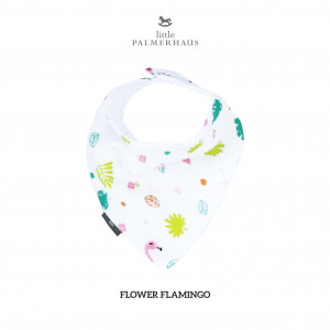Flower Flamingo Bandana Bib