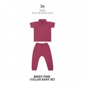 BERRY PINK Collar Baby Set