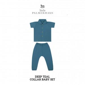 DEEP TEAL Collar Baby Set