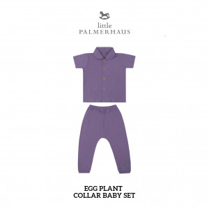 EGG PLANT Collar Baby Set