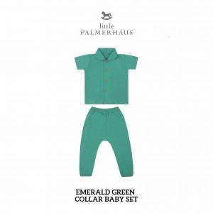 EMERALD GREEN Collar Baby Set