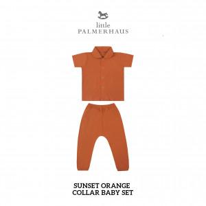 SUNSET ORANGE Collar Baby Set