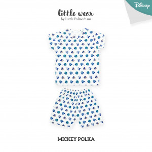 MICKEY POLKA Little Wear Shoulder Button Short Sleeve