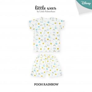 POOH RAINBOW Little Wear Shoulder Button Short Sleeve