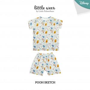 POOH SKETCH Little Wear Shoulder Button Short Sleeve
