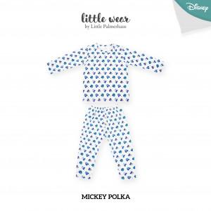 MICKEY POLKA Little Wear Shoulder Button Long Sleeve