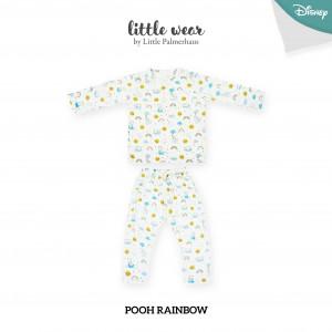 POOH RAINBOW Little Wear Shoulder Button Long Sleeve
