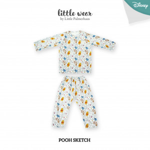 POOH SKETCH Little Wear Shoulder Button Long Sleeve