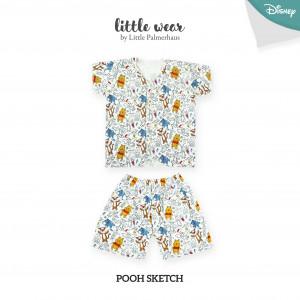 Pooh Sketch Little Wear Short Sleeve