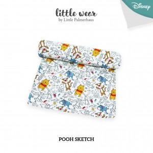 Pooh Sketch Little Wear Basic Swaddle