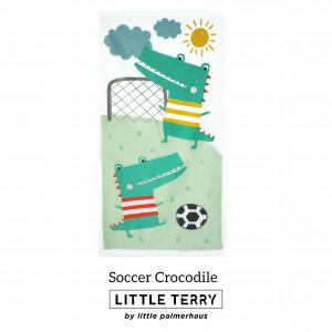 SOCCER CROCODILE LITTLE TERRY TOWEL