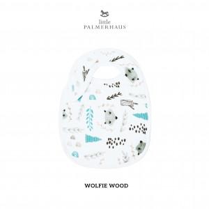 Wolfie Wood Snappy Bib