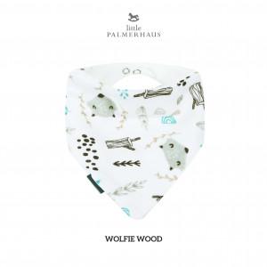 Wolfie Wood Bandana Bib