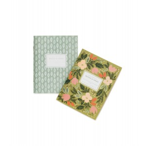 Moss Garden Set of 2 Pocket Notebooks