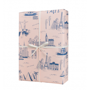 City Toile Set of 3 Wrapping Sheets