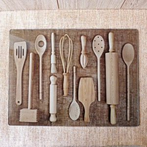 Wooden Utensils Work Surface Protector
