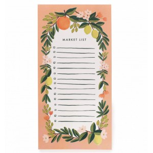 Citrus Floral Coral Shopping Pad