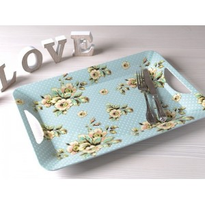 Katie Alice 'Cottage Flower' Luxury Tray with Handles